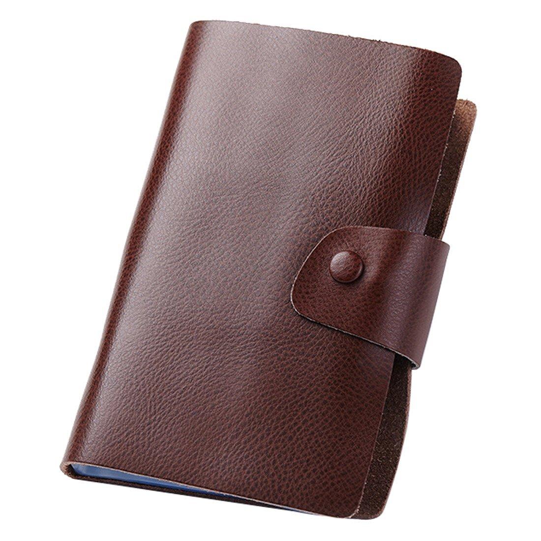 Esdrem organizer porta carte in vera pelle –Porta biglietti da visita e carte di credito, per 240carte. Dark Red per 240carte. Dark Red