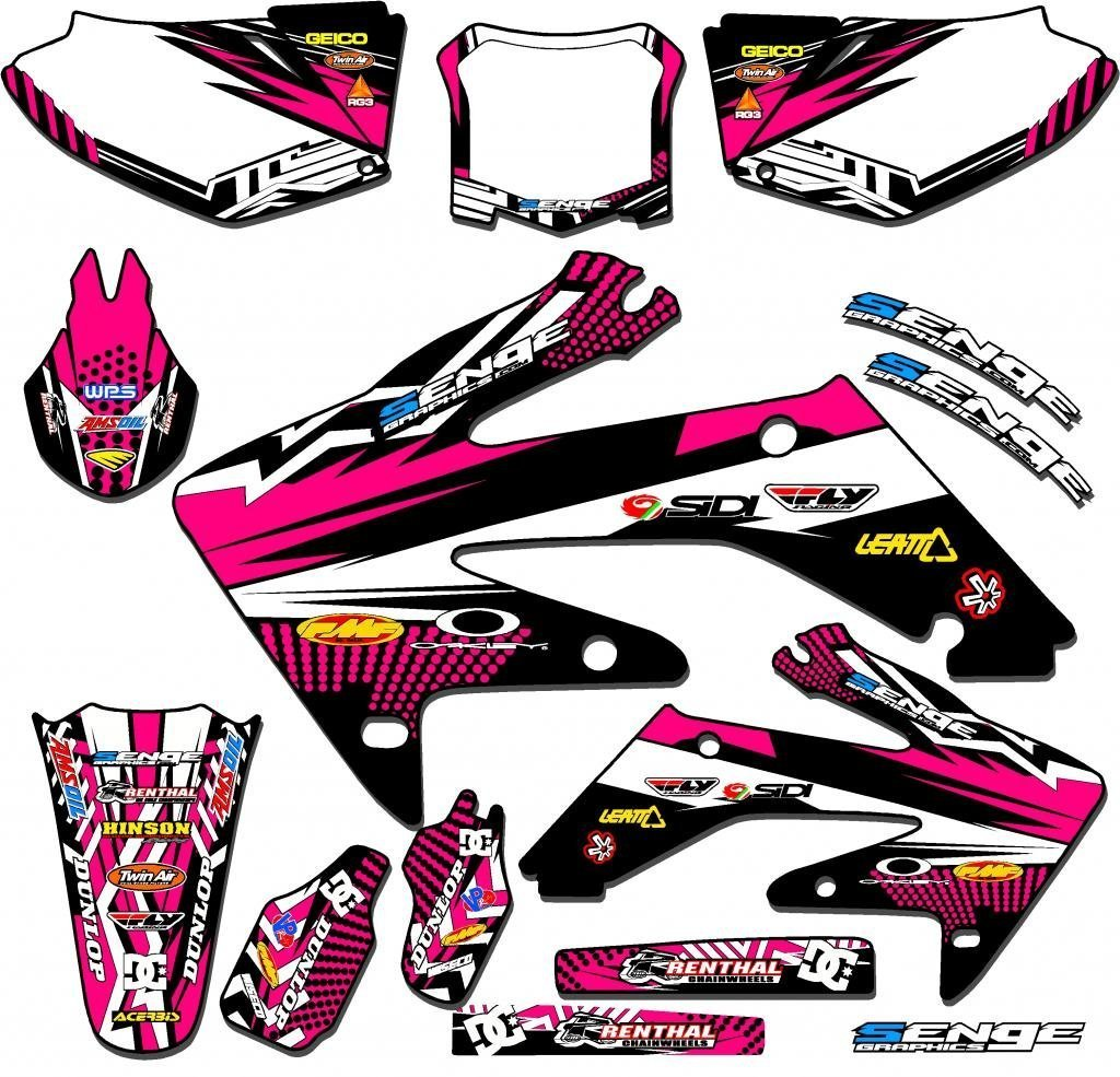 Senge Graphics 2013-2018 Honda CRF 110 Mayhem Pink Graphics kit Senge Graphics Inc. COMINU025231