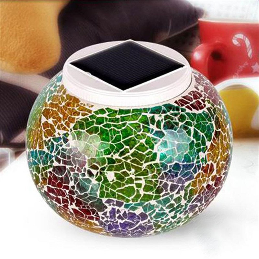 Solar Powered 3D Glass Ball Light, Vacio Color Changing Solar Table Lamps,LED Garden Lights Waterproof Solar Outdoor Lights for Christmas,Home,Yard, Patio,Ideal Gifts(Multicolor)