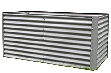 Outflexx Hochbeet Aluminium Silber 180 X 90 X 84 Cm Amazon De