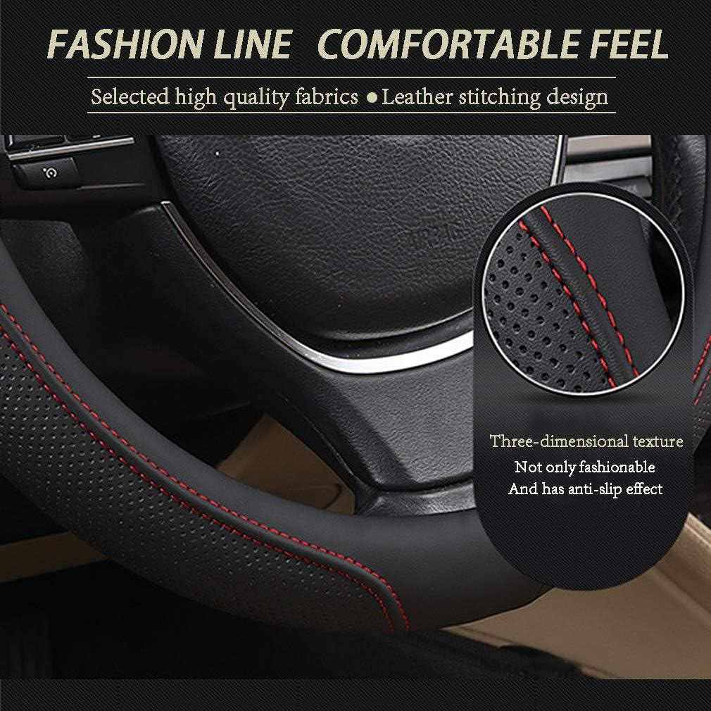 Pahajim Housse de volant universelle en cuir souple respirant et antid/érapant pour voiture 38 cm