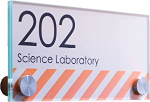 """Displays2go Oval Office Sign for Wall or Door, Stainless Steel Standoffs, 6"""" x 3"""", Acrylic Plates (DSIGN63)"""