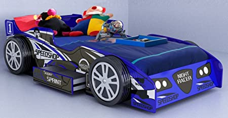 Race Car Bedroom Furniture. New Turbo Kids Boys Novelty Blue Racing Car Bed  Drawer Frame