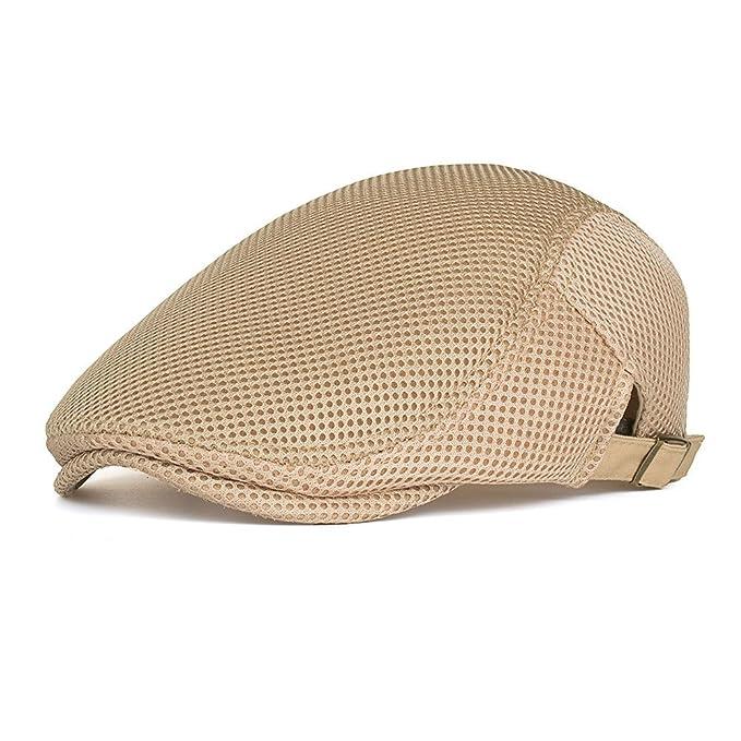 757e2d148 Fasbys Men Women Breathable Summer Flat Cap Mesh Sport Hat for ...