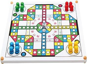 Ajedrez juguetes voladores multifuncional de madera rompecabezas y juegos de mesa para adultos serpiente y escalera: Amazon.es: Juguetes y juegos