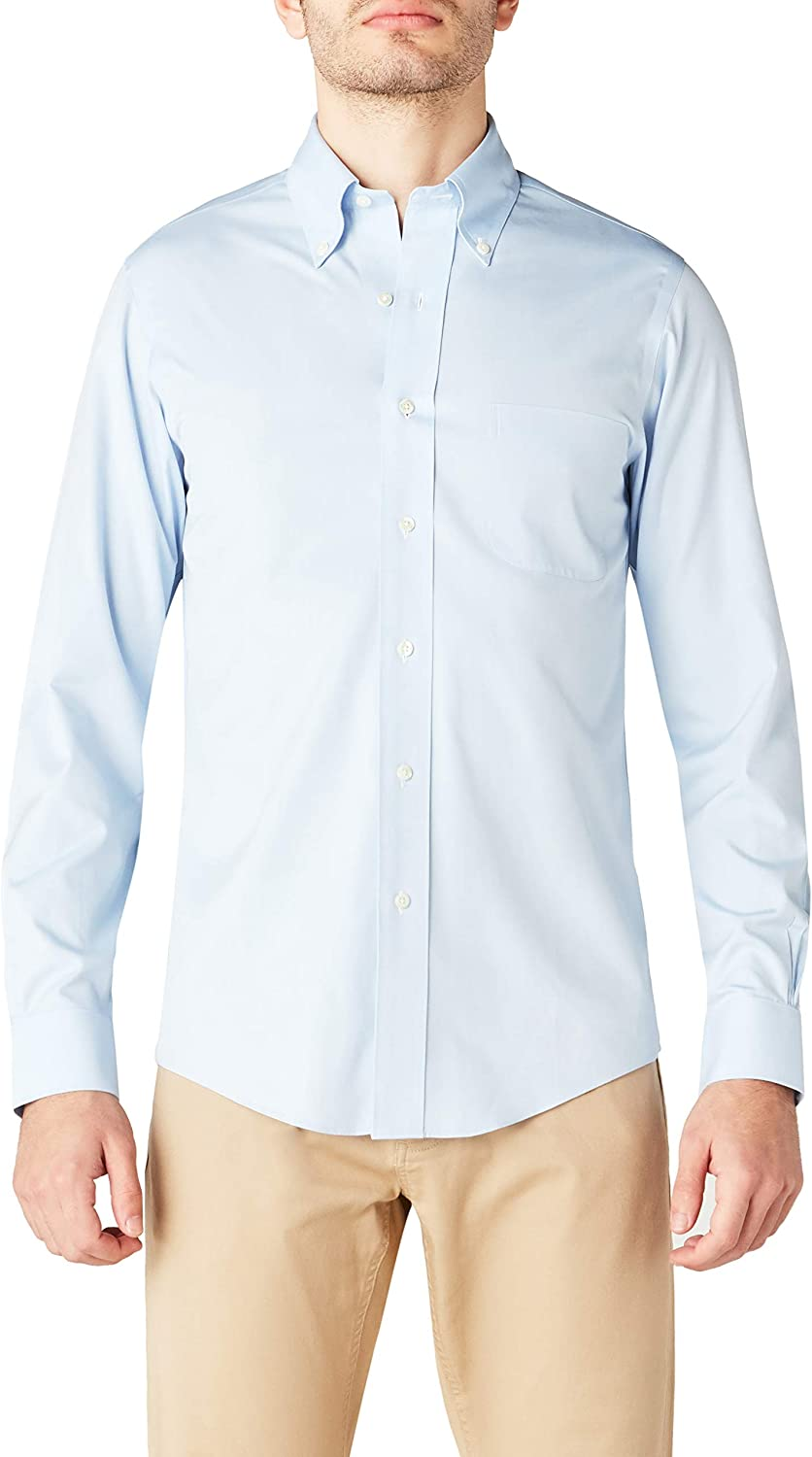 BROOKS BROTHERS Dress Non-Iron Botton Down Milano Camisa para Hombre: Amazon.es: Ropa y accesorios
