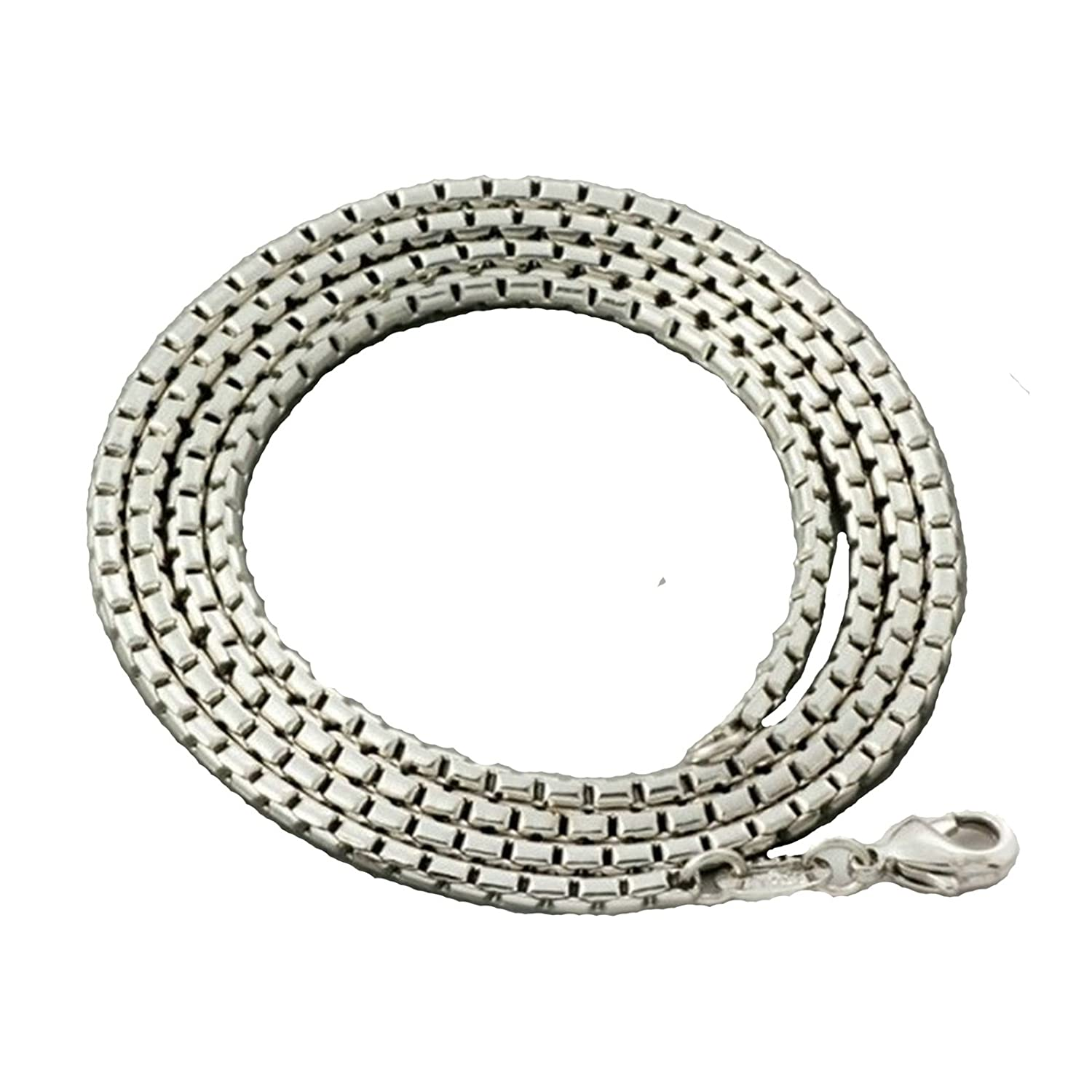 Aokarry Silver Box Chain Necklace 16 Inches