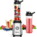 Sboly Personal Blender, Single Serve Blender for Smoothies and Shakes, Small Juice Blender with 2 Tritan BPA-Free 20Oz Blende