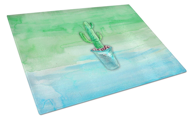 Caroline 's Treasures bb7362lcb Cactus Teal andグリーン水彩Chopping Board、L、マルチカラー B0722ZWQ35