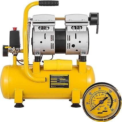 Mophorn Compresor de Aire Compresor sin Aceite de Lubricación de ...