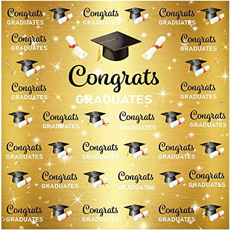 7x5ft Congratulate Graduation Backdrop Class of 2020 College Prom Pictures Table Dessert Party Ceremony Decor Banner Event Photoshoot Photo Booth Background W-607