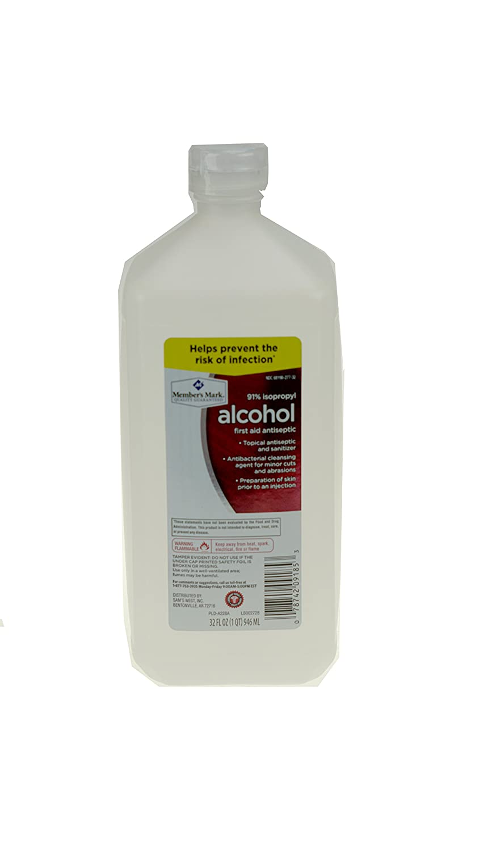 91% Isopropyl Alcohol 32 fl oz bottle (1 bottle)