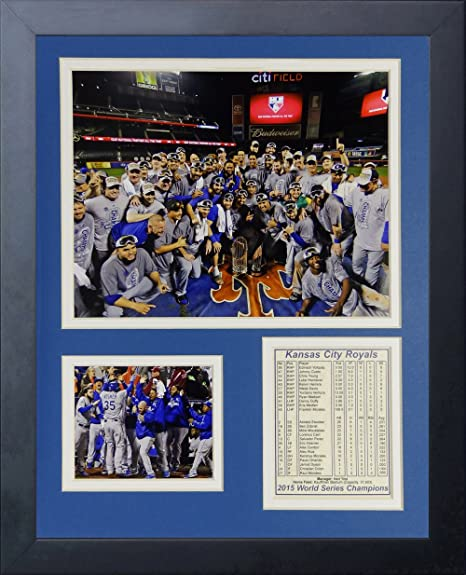 8d43b757 Amazon.com : Legends Never Die MLB Kansas City Royals 2015 World Series  Champions Mound Framed Photo Collage, 11
