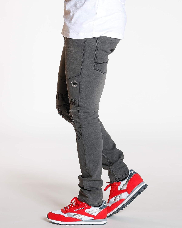Ankor East Mens Moto /& RIPS Skinny Stretch Jean