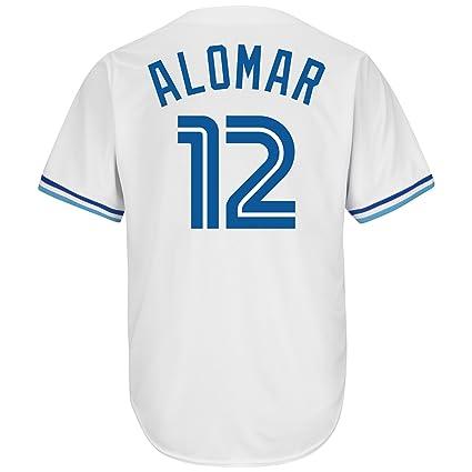 the latest e1d09 c0118 Amazon.com : Roberto Alomar Toronto Blue Jays White Cool ...