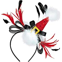 Fashion Chirstmas Headbands Women Holiday Costume Accessories Headwear Party Gift Christmas Fascinator Hats for Girls…