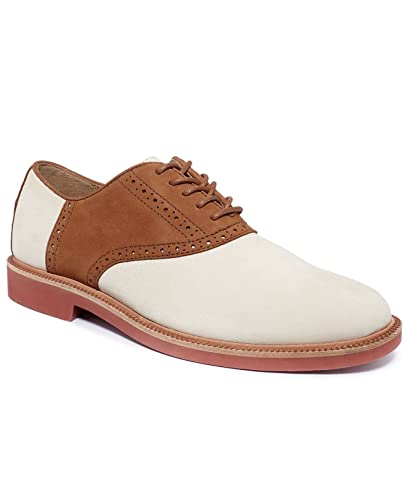 Polo Ralph Lauren Men\u0027s Torrington Saddle Oxford, Saddle Ivory/Tan 7.5