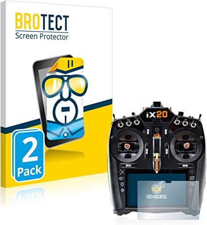 Dirt-Repellent Crystal-Clear Hard-Coated 2X BROTECT HD-Clear Screen Protector for Dotel XP-7000