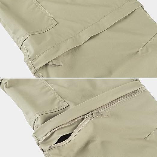 Acampada Y Senderismo Hard Land Pantalones Impermeables Convertibles Para Hombres Pantalones Con Cremallera Ripstop Al Aire Libre Que Caminan Que Acampan Pantalones Tacticos Del Teflon Deportes Y Aire Libre Celp Es