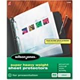 Wilson Jones Super Heavy Weight Sheet Protector, Non-Glare Finish, Clear, 50 per Box (21401)
