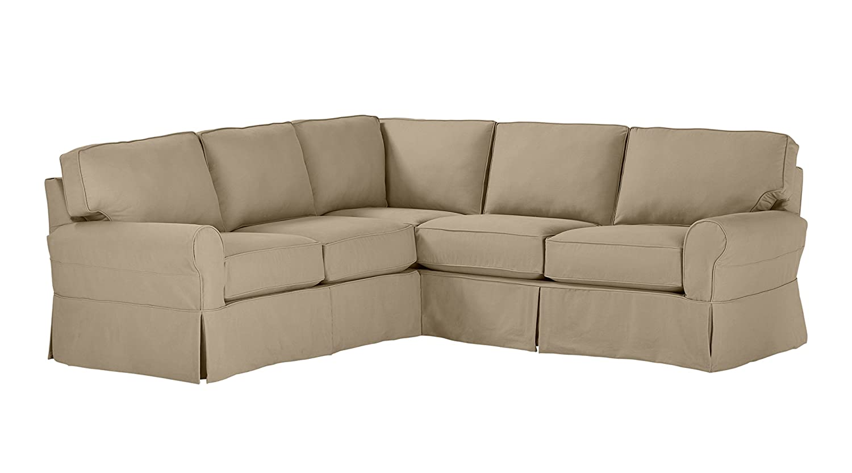 on sale e593c 7bd48 Stone & Beam Carrigan Modern Slipcover Sectional Sofa, 103