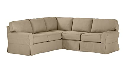 Stone & Beam Carrigan Modern Slipcover Sectional Sofa, 103\