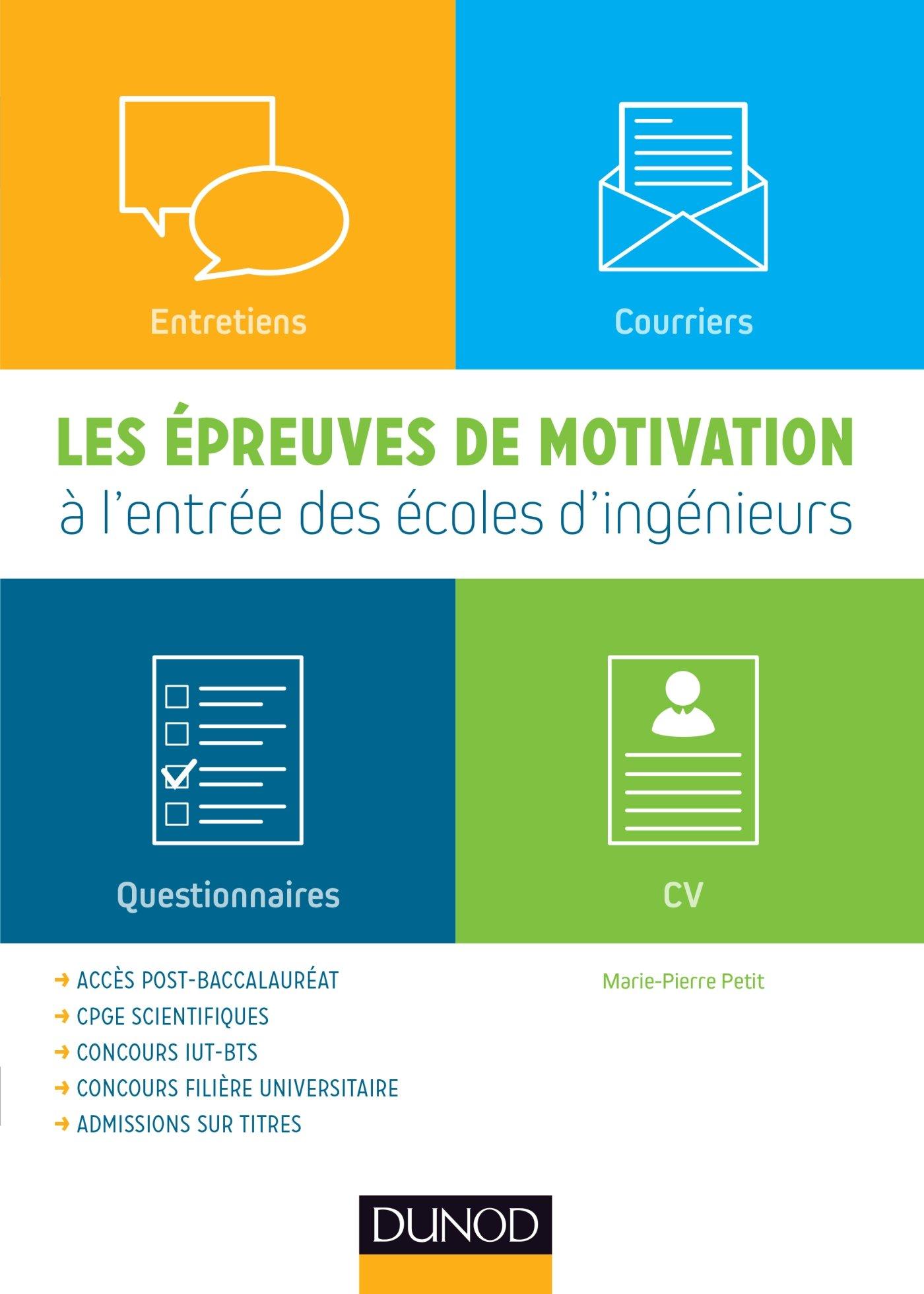 Amazon Fr Les épreuves De Motivation à L Entrée Des écoles