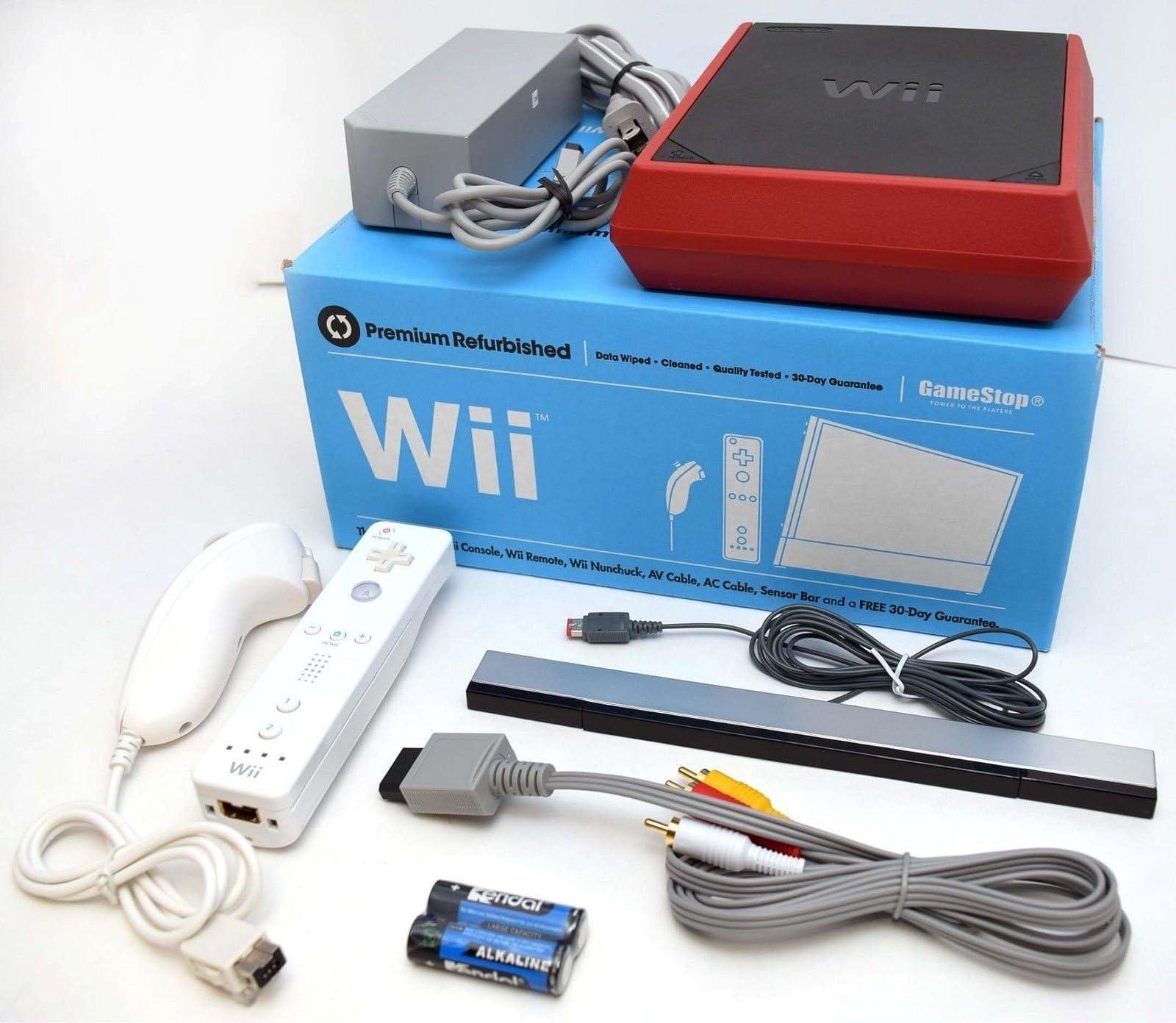 Amazon.com: Nintendo Wii 8GB Mini Red/Black Video Game Console Home ...