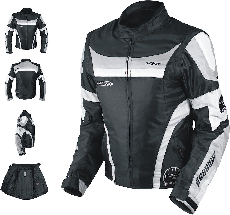 Oxford Jacke Herren Textil Ce Protektoren Thermoweste Motorrad Grau M Auto