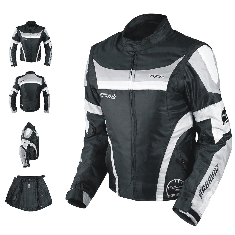 A-pro Blouson Oxford Nylon Homme Textile CE Protections Thermique Moto Noir L