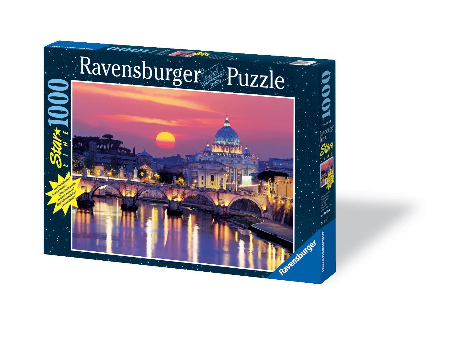 Evening in Rome 1000 Piece Starline Glow-in-The-Dark Puzzle
