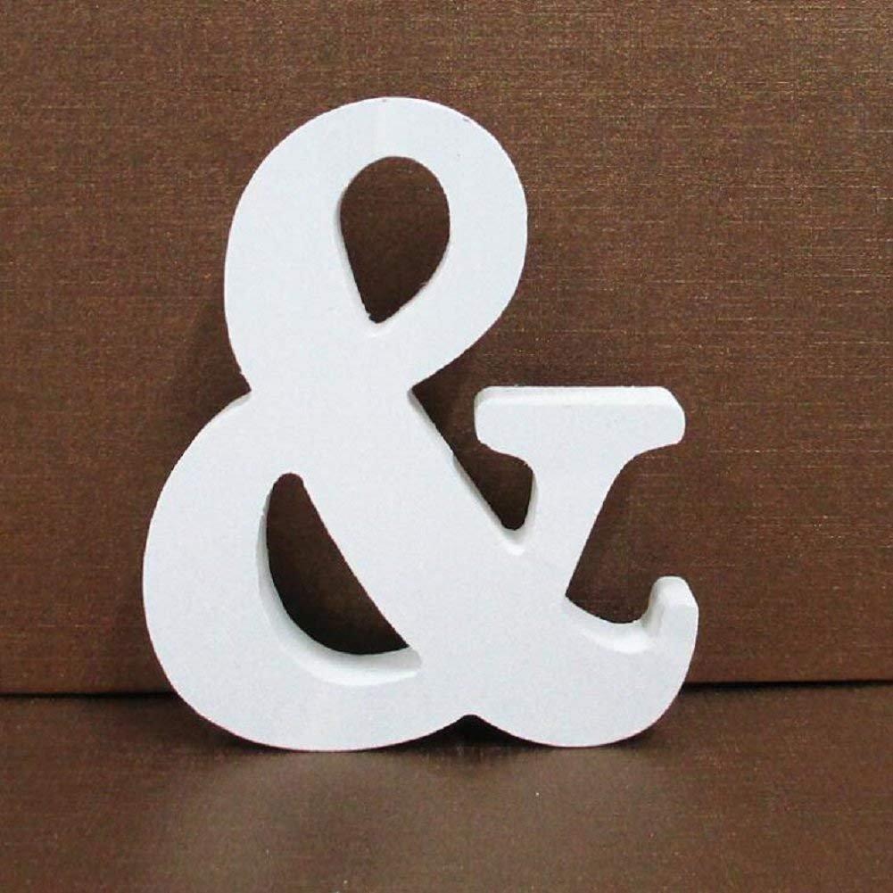 Toifucos A-Z 10cm DIY Madera de Alfabeto Ingl/és Adornos artesanales para Casa Boda Cumplea/ños Decoraci/ón de fiesta Accesorios Blanco 1 pieza P Letras de Madera