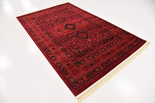 Unique Loom Tekke Collection Tribal Traditional Torkaman Red Area Rug 5 0 x 8 0