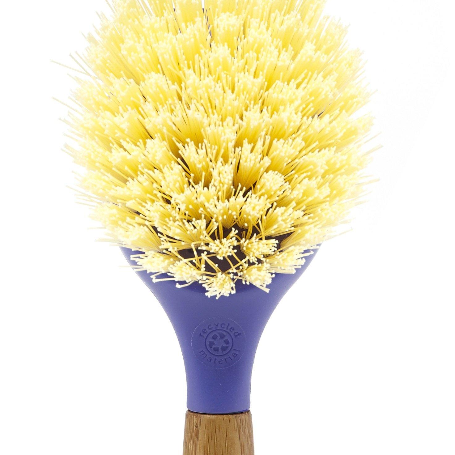 Full Circle Be Good Kitchen Dish Brush with Bamboo Handle, Single Brush, Purple