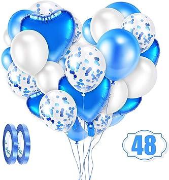 Herzballon !! für Helium Farbe Blau Inhalt 25 Ballons !!! Folienballon