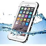 KYOKA iPhone7 防水ケース 指紋認証対応 防水 耐震 防塵 耐衝撃 IP68 アイフォン7 防水ケース 防水カバー (iPhone7, ホワイト)