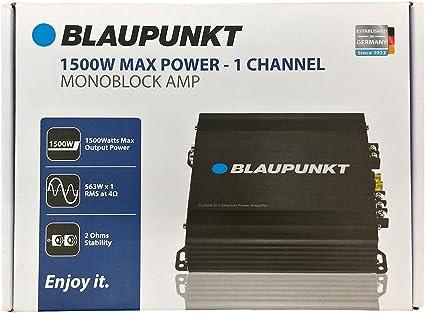 Blaupunkt AMP1501 1500 W Max Monoblock Class D Stereo Car Audio Amplifier