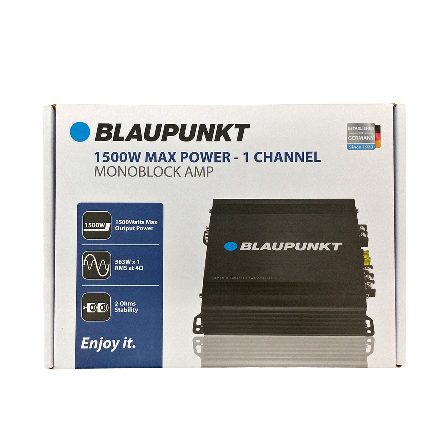 Blaupunkt 1500W Max 1 Channel/Monoblock Class D Stereo Car Audio Amplifier