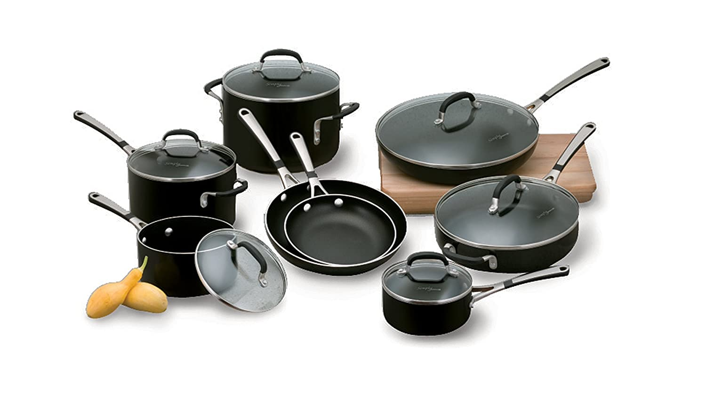 Amazon.com: Simply Calphalon Enamel 14 Piece Set- Black: Cookware ...