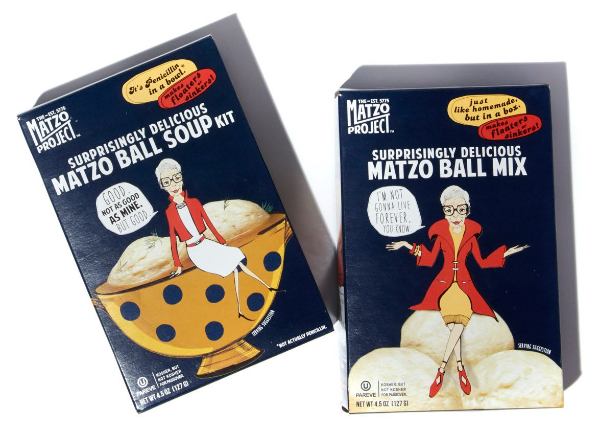 The Matzo Project Matzo Ball Soup Kit & Matzo Ball Mix Double Header, Vegetarian, Kosher, Low-Fat, No-MSG, No Trans Fats, Nothing Artificial, 4.5oz, Pack of 2 by THE MATZO PROJECT