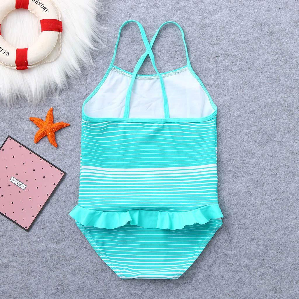 QinMM 5-12 a/ños ni/ñas ba/ñador de una Pieza a Rayas Monokini Trajes de ba/ño de Verano Biquinis Chicas bikins ba/ñador nataci/ón Ropa de Playa
