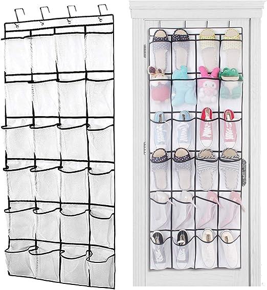 Joyful Store Over The Door Shoe Organizer 24 Mesh Pockets Shoe Storager Hanging Shoe Holder for Shoe,Accessories,Toiletries,Laundry Storage