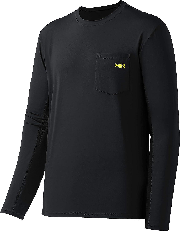 Bassdash Men's UPF 50+ Performance Long Sleeve T-Shirt UV Sun Protection Fishing Hiking Sports Shirts: Clothing