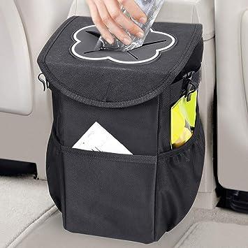 Tough 600D Fabric Collapsible Car Bin Litter Waste Rubbish Trash Storage Pocket