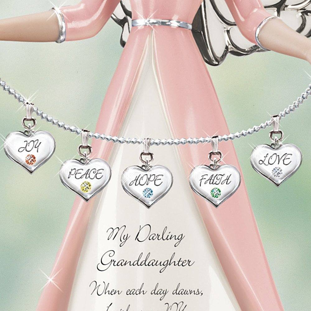 The Bradford Exchange Darling Granddaughter, I Wish You Collectible Angel Figurine Gift