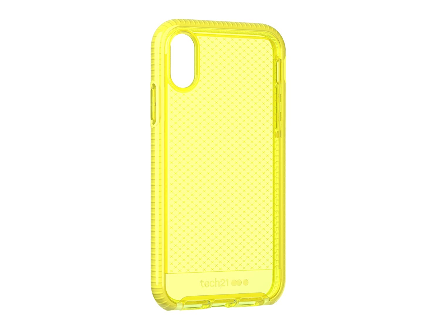 new style 845ef 34799 tech21 - Evo Check Case - for Apple iPhone XR, Neon Yellow