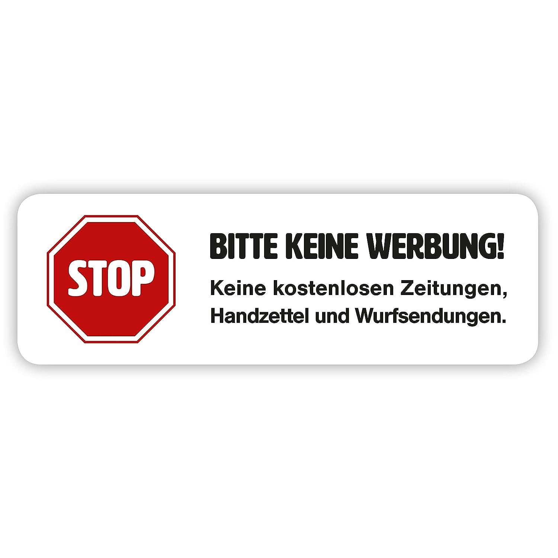 Magnet Schild Bitte Keine Werbung In Weiß Für Ihren Briefkasten
