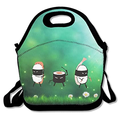 Amazon.com: Cute Ninja Sushi Band Insulated Lunch Bag ...