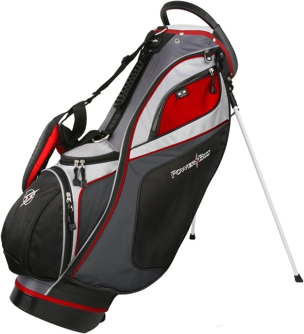 Powerbilt TPS Dunes 14-Way Black/Charcoal Stand Golf Bag (Black/Charcoal) : Sports & Outdoors