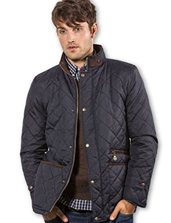 VEDONEIRE Mens Quilted Jacket (3039 NAVY) padded coat blue: Amazon ... : mens quilted coats uk - Adamdwight.com